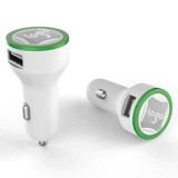 Cadeau d'affaire Chargeur voiture USB Twincharge White