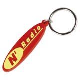 Cadeau d'affaire Porte-clés PVC Promo 65 mm (2D)
