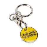 Cadeau d'affaire Porte-clés jeton Caddy