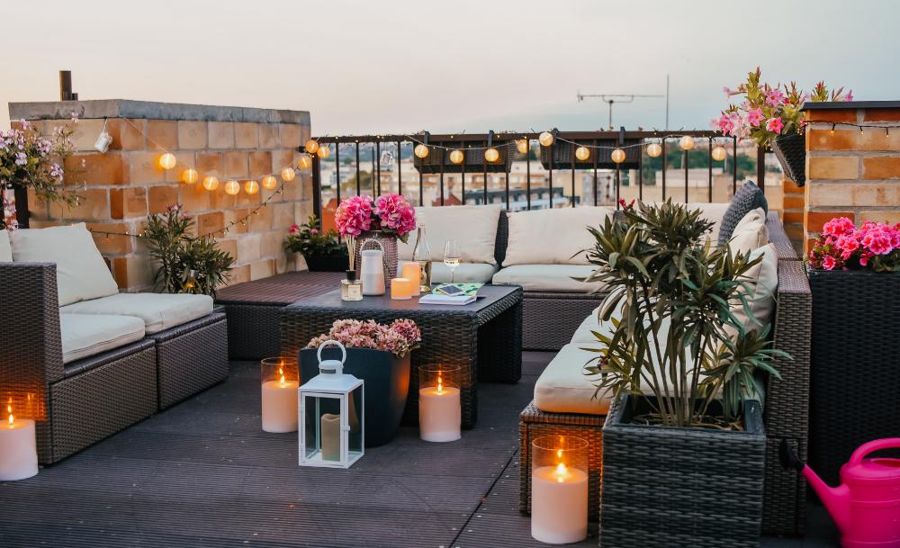 Gezellig rooftop terras