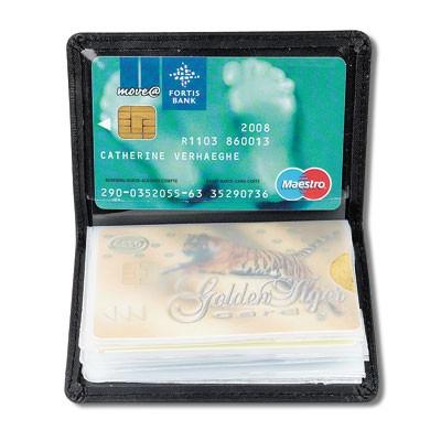 Porte-cartes de crédit Leather