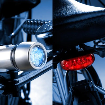 Lampe vélo Duo set